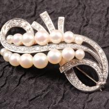 Diamond and Pearl Pin