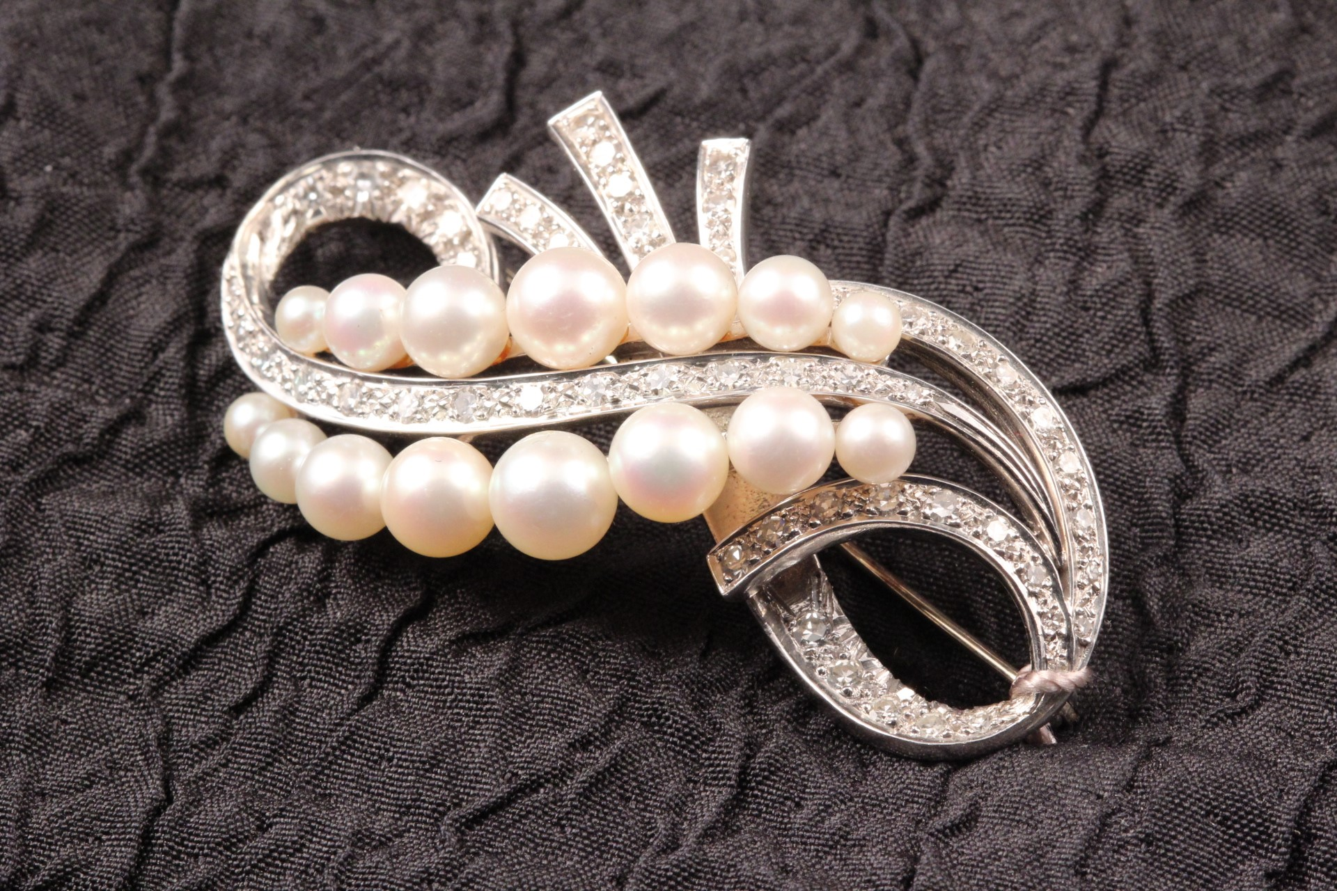 Diamond and Pearl Pin