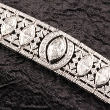 Diamond Marquise Shape Bracelet